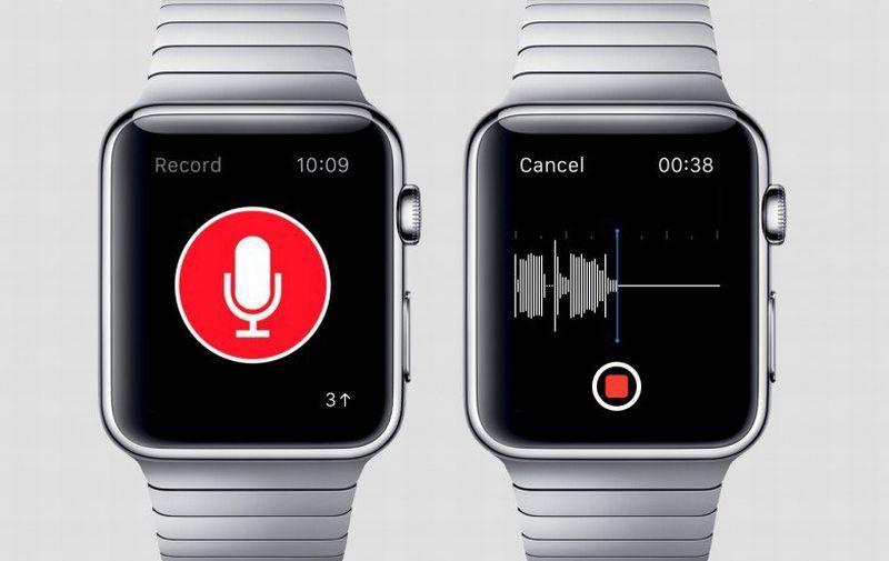 диктофон в Apple Watch