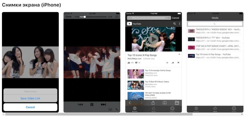 VideoSaver в AppStore